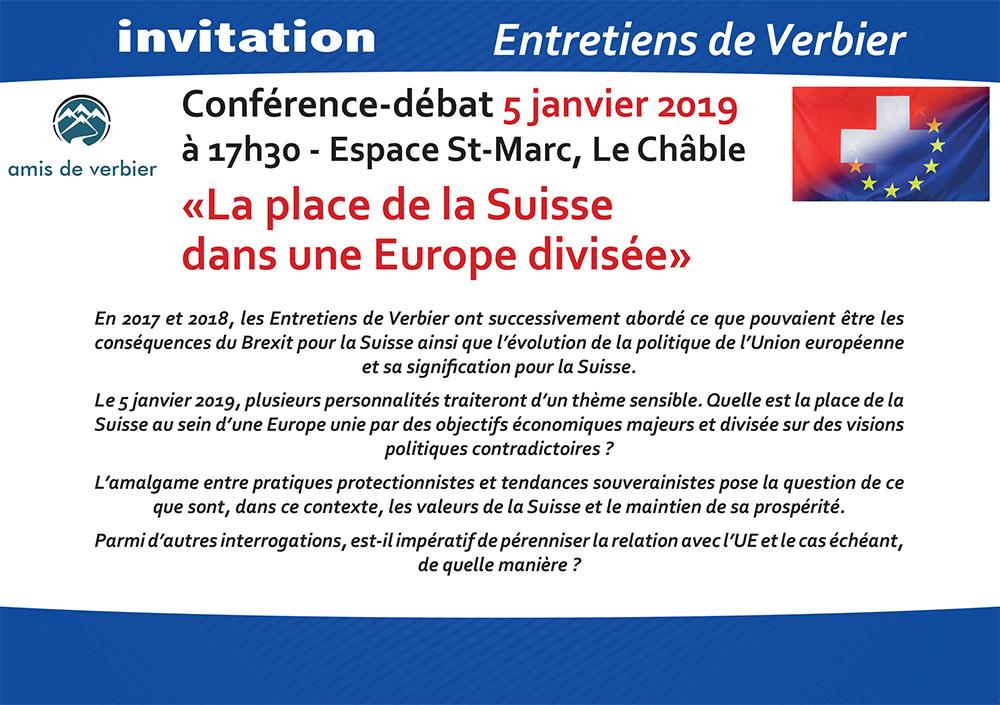 Invitation Conférence-débat 5 janvier 2019